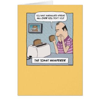 Cartão de aniversário engraçado: O Whisperer do