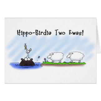 Cartão de aniversário engraçado. Ovelhas do