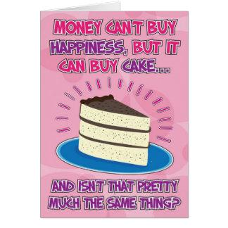Cartão de aniversário engraçado para a mulher - a