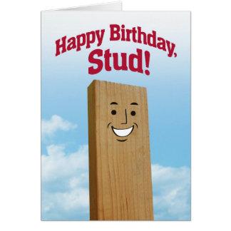 Cartão de aniversário engraçado para um parafuso