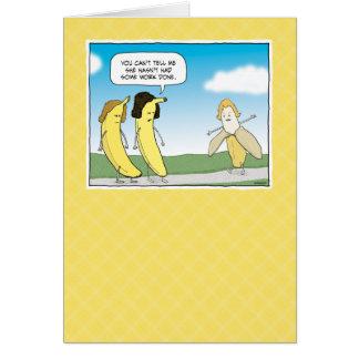 Cartão de aniversário engraçado: Vão as bananas!