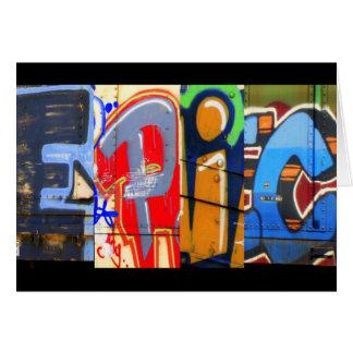 Cartão de aniversário épico dos grafites