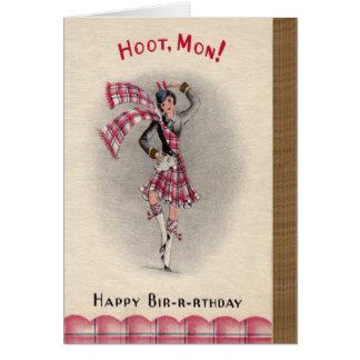 Cartão de aniversário escocês
