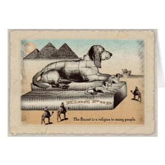 Cartão de aniversário - esfinge do Basset