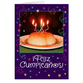 Cartão de aniversário espanhol/inglês do