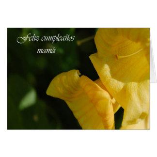 Cartão de aniversário espanhol para a mamã
