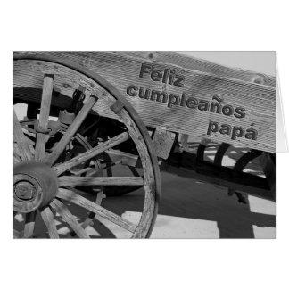 Cartão de aniversário espanhol para o pai
