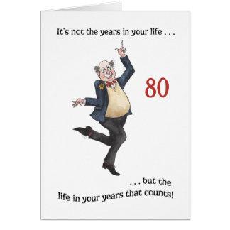 Cartão de aniversário específico à idade do 80 do