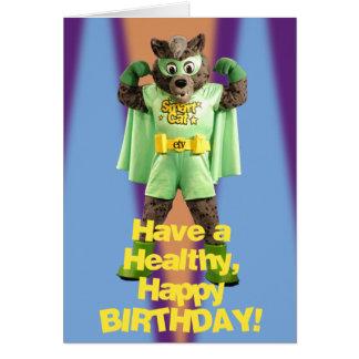 Cartão de aniversário esperto do gato de ETV