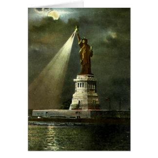 Cartão de aniversário - estátua da liberdade