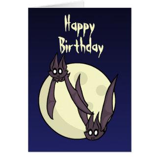 Cartão de aniversário extravagantemente