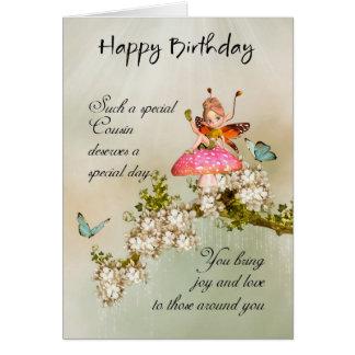 Cartão de aniversário feericamente do primo com fl