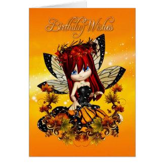 cartão de aniversário feericamente - o aniversário