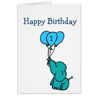 Cartão de aniversário feito sob encomenda da idade