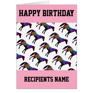 Cartão de aniversário feito sob encomenda do
