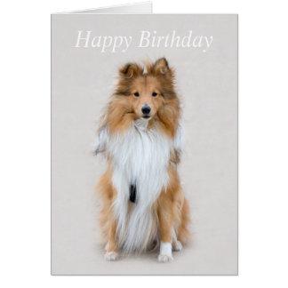 Cartão de aniversário feito sob encomenda do cão