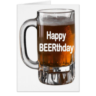 Cartão de aniversário feliz de BEERTHDAYBeer