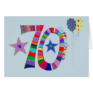 cartão de aniversário feliz do 70 do aniversário
