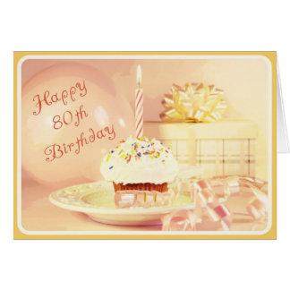 Cartão de aniversário feliz do 80