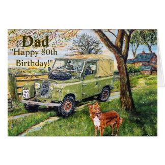 Cartão de aniversário feliz do 80 para o pai