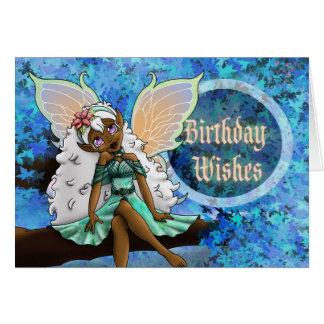 """Cartão de aniversário """"feliz"""", fada"""