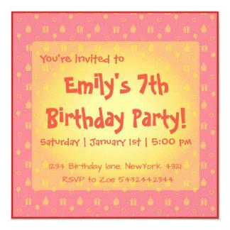 Cartão de aniversário feminino bonito