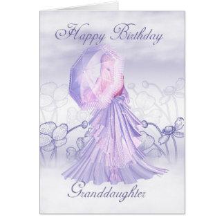 Cartão de aniversário feminino bonito da neta