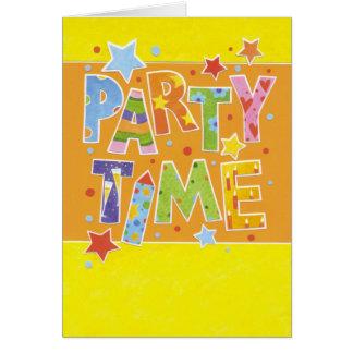 Cartão de aniversário festa Calcular o tempo