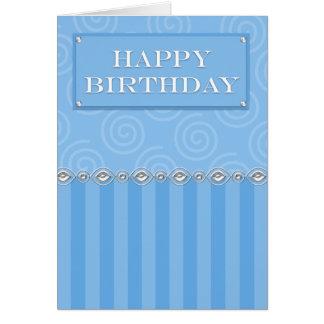 Cartão de aniversário formal