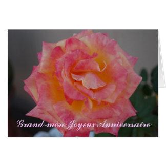 Cartão de aniversário francês para a avó