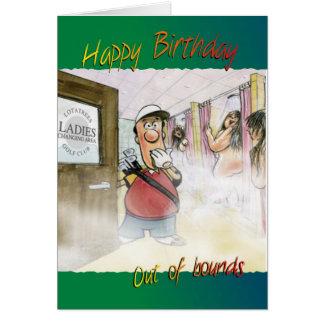 Cartão de aniversário Golfing