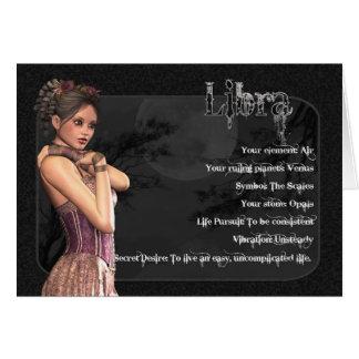 Cartão de aniversário gótico do zodíaco do Libra