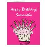 Cartão de aniversário grande da extra grande para