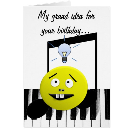Cartão de aniversário grande da ideia