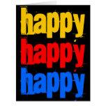 Cartão de aniversário grande feliz feliz feliz 8 x