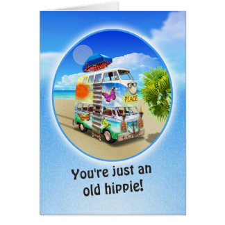 Cartão de aniversário Groovy dobro