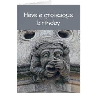 Cartão de aniversário grotesco