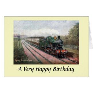 """Cartão de aniversário - GWR de """"holandês vôo """""""