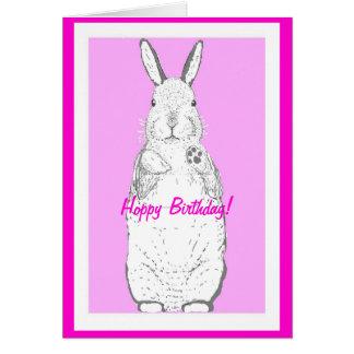 Cartão de aniversário (hoppy) feliz