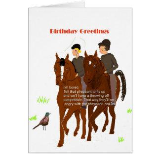 Cartão de aniversário Horsey
