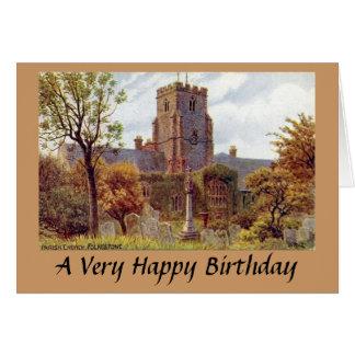 Cartão de aniversário - igreja paroquial,