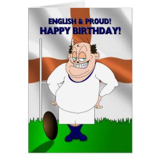 Cartão de aniversário inglês e orgulhoso do rugby