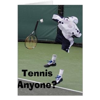 Cartão de aniversário invisível do tênis