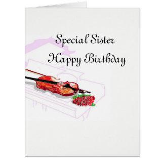 Cartão de aniversário: Irmã especial