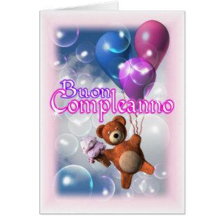 Cartão de aniversário italiano de Buon Compleanno