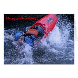 Cartão de aniversário Kayaking