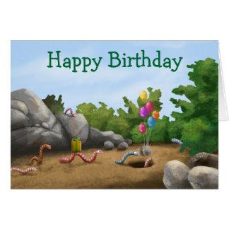 Cartão de aniversário legal do sem-fim