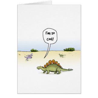 Cartão de aniversário legal do Stegosaurus