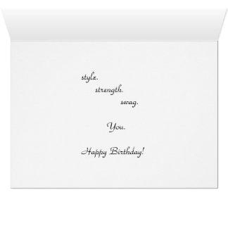 Cartão de aniversário legal para o menino das