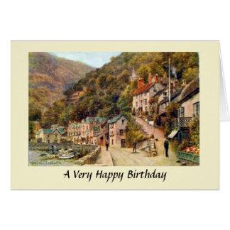 Cartão de aniversário - Lynmouth, Devon